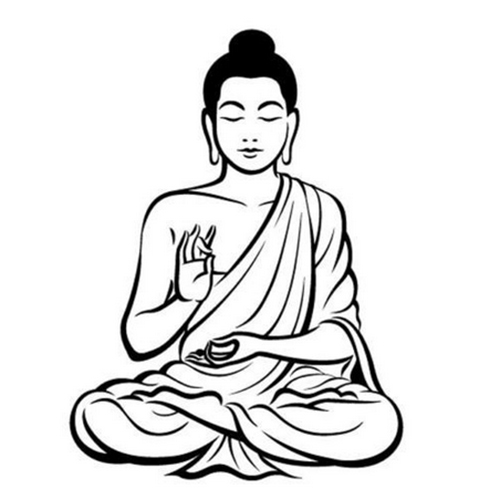 Diy black wall sticker meditating buddha decal removable art mural home decor
