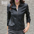 Black red split leather coats women second layer lambskin motorcycle jacket veste en cuir femme jaqueta de couro croped LT704