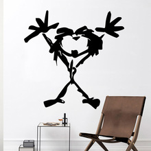 Modern Linear Girl Wall Sticker Pvc Removable Kids Room Nature Decor Decoration Murals
