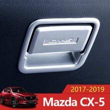 ABS Chrome автомобилей бардачок пилот хранения переключатель ручка блёстки наклейки Накладка для MAZDA CX-5 CX5 2017 2018 2019 интимные аксессуары