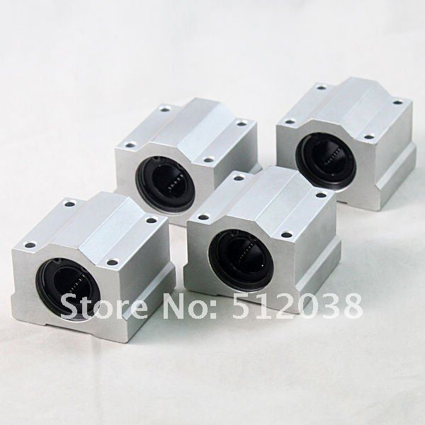 4pcs/lot SC40UU SCS40UU Linear Ball Bearing Motion Bearing Pillow Bolck Linear unit for XYZ Table CNC Router sc10uu scs10uu 10mm linear axis ball bearing block bearing pillow bolck linear unit for cnc