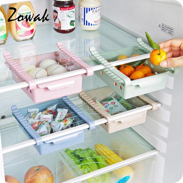 Refrigerator Organizer Drawer Kitchen Partition Storage Rack Office Table  Closet Shelf Space Saver Shelves Sliding Freezer
