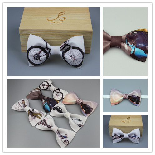 Free Shipping New fashion casual male mens Original high quality wedding ceremony bow tie bows bridegroom to host the gift box