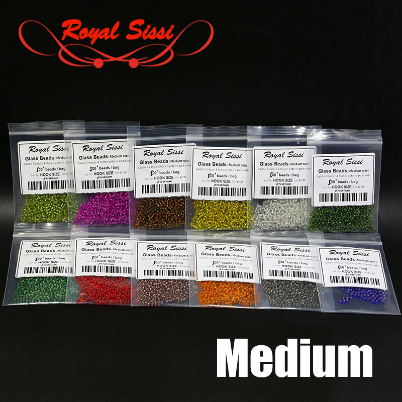 6packs set medium size fly tying glass beads caddis emerger&nymph flies resin head beads dia.2mm larva body beads tying material