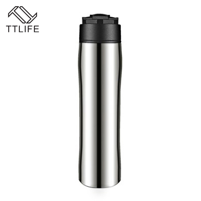 Ttlife High Quality Coffee Pot 350ml Stainless Steel Outdoor Vacuum Mug Plunger Portable French Press