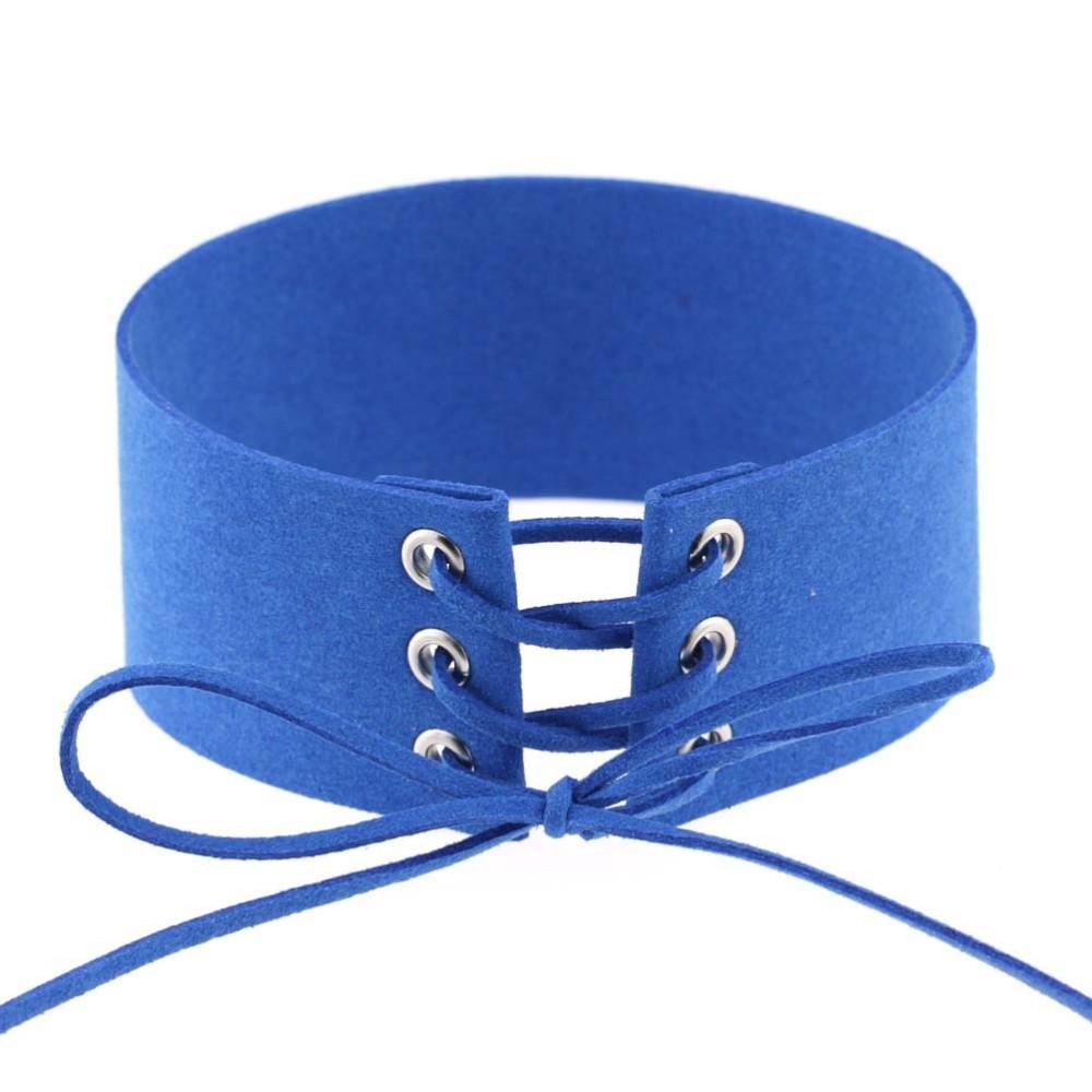 HTB1LaBFLpXXXXcTXpXXq6xXFXXX9 Gothic BDSM Black Velvet Lace Up Choker Collar Necklace For Women - 11 Colors