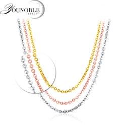 Echtes 18K Weiß Gelb Gold Kette 18 zoll au750 Rose Gold Halskette Anhänger Wendding Partei Geschenk Für Frauen Hochzeit