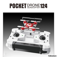 цена на Mini pocket RC Drone 2.4G 4CH 6-Axis Gyro RTF Remote Control Pocket Quadcopter Drone RC Helicopter Toys For children