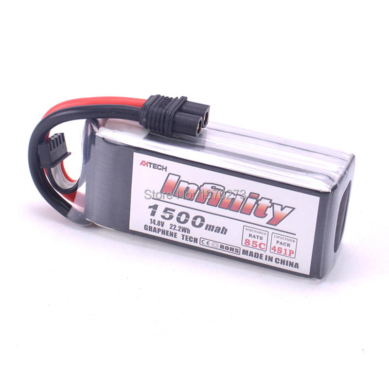 Rechargeable <font><b>Lipo</b></font> Battery For Infinity <font><b>4S</b></font> 14.8V <font><b>1500mAh</b></font> 85C Graphene XT60 Support 15C Boosting Charge For Racer Drone image