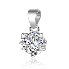 1pcs 100% Real 925 Pure Silver Clear Shiny Zircon Stone Lovely Cat with Bail Pendant for DIY Jewelry Making Findings Supplier