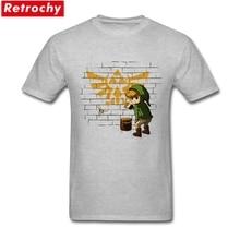 Men's Cute The Legend of Zelda Link T-shirt Japenese Anime Cheap T Shirt Leisure Tees Shirt Man Short Sleeve Cotton Big Size Top