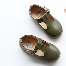 AILIANG zapatos de cuero para niños calzado para niñas vintage solo zapatos de escuela zapatos planos 2018