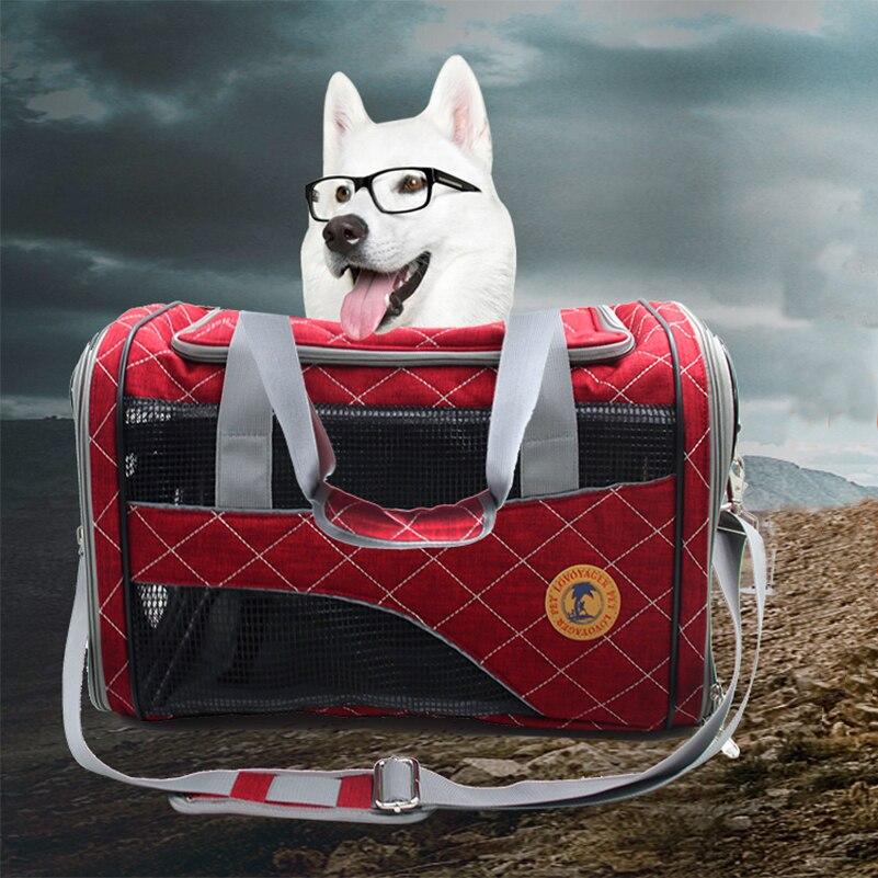 Sac à bandoulière pour animaux de compagnie pliant Portable respirant maille compagnie aérienne approuvé coton pour animaux de compagnie chien chat sac fourre-tout livraison gratuite
