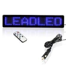 12 В дистанционный светодиодный программируемый знак для автомобилей/мотоциклов/велосипедов/автомобилей