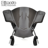 BJMOTO Motorcycle Adjustable Wind Screen Windshield For Yamaha MT03 MT25 MT07 FZ07 MT09 FZ09 FZ1 FZ8 YZF R6 SR400|Windscreens & Wind Deflectors|   -