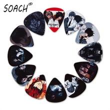 SOACH 10 шт. 3 вида толщины новые медиаторы для гитары бас японского аниме Death Note фотографии высокое качество принт аксессуары для гитары