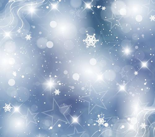 خلفيات الفضة البيضاء رقائق الثلج التصوير الخلفيات الفينيل القماش