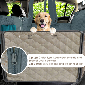 Image 4 - Dog Car Seat Cover With Mesh Viewing Window & Storage Pocket Pet Carriers Dog Seat Cover Waterproof Nonslip Backing