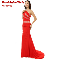 Newest 2017 Floor Length Strapless Neck Elegant chiffon Crystal Pleat Evening Dresses customized Size Mother of the Bride ED003