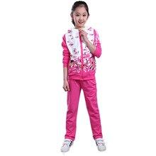 Autumn Fashion Girls Clothes Jacket Floral Kids Hoodies+Pants Tracksuit For Girls Sport Suit 2 pcs set children's clothing