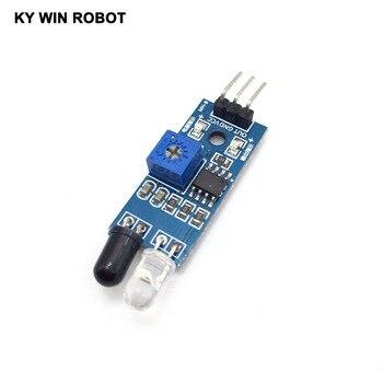 1 sztuk nowy Diy samochód zdalnie sterowany odblaskowe fotoelektryczne 3pin IR podczerwieni unikania przeszkód moduł czujnika