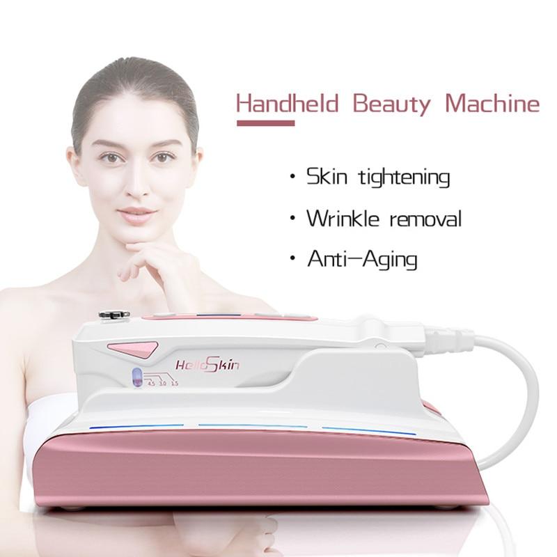 2018 ultra-sônico hifu rejuvenescimento da pele rf levantamento terapia beleza alta intensidade focalizado ultra-som cuidados com a pele levantamento facial
