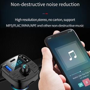 Image 2 - Onever Bluetooth 5.0 zestaw samochodowy z nadajnikiem Fm MP3 Modulator ładowarka samochodowa QC3.0 podwójne USB z ekranem LED kraty tryb EQ 2019 nowy