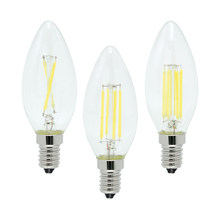 4W 8W 12W E14 LED Filament Lamp Glass COB Chips Bulb 220V Retro Edison Candle For Chandelier Lights Lighting Dimmable(China)