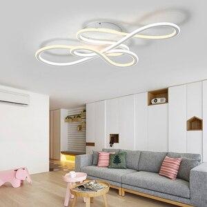 Image 5 - NEO כפול זוהר זוהר מודרני led תקרת אורות חדר שינה סלון אורות תקרת גופי מנורת עמעום lamparas de techo