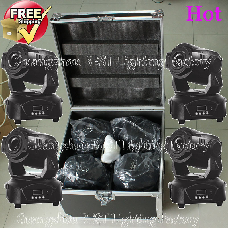 4pcs/lot Led Moving Head Spot 90w With A Flight Case Moving Head 90w Led Source Free Shipping