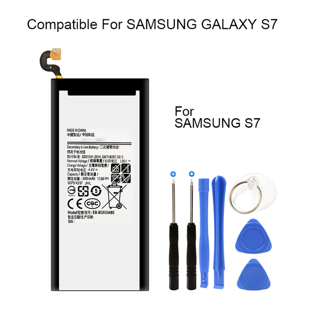Original ones brand 3600 mAh zero 0 Cycle mobile phone battery for Samsung Galaxy S7 battery G9350 SM-G935F EB-BG935ABE