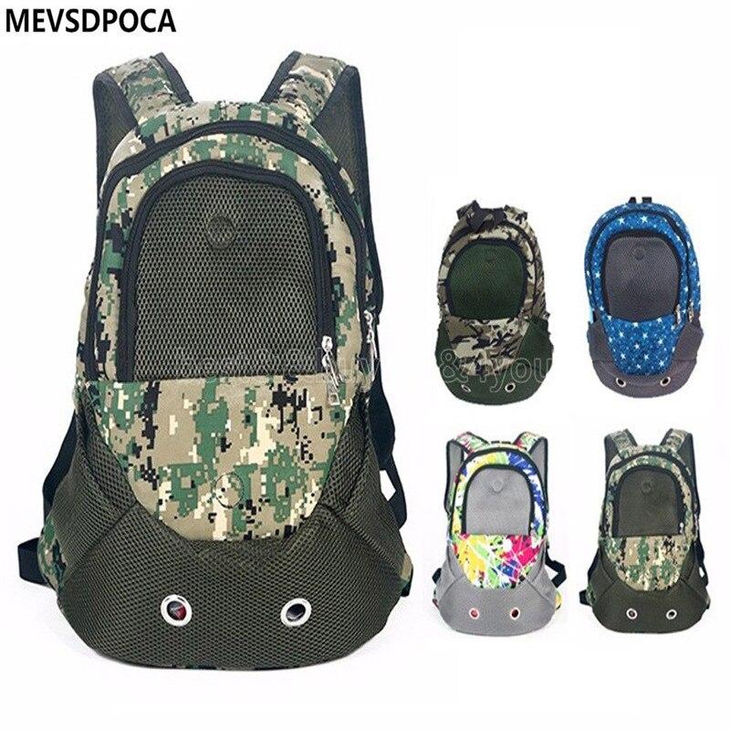 MEVSDPOCA Pet Carrier Shoulders Back Front Pack Dog Cat Travel Bag Backpack Head out TP