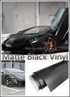 600mm X1520mm Matte Black Vinyl Wrap Air Release Bubble Free Sticker Decal DIY Film Tape Emblem
