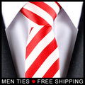 White red Striped Men's Neckties Ties for Men Tie Brand Wedding Ties 5CM Wide Casual 1pcs Free shipping