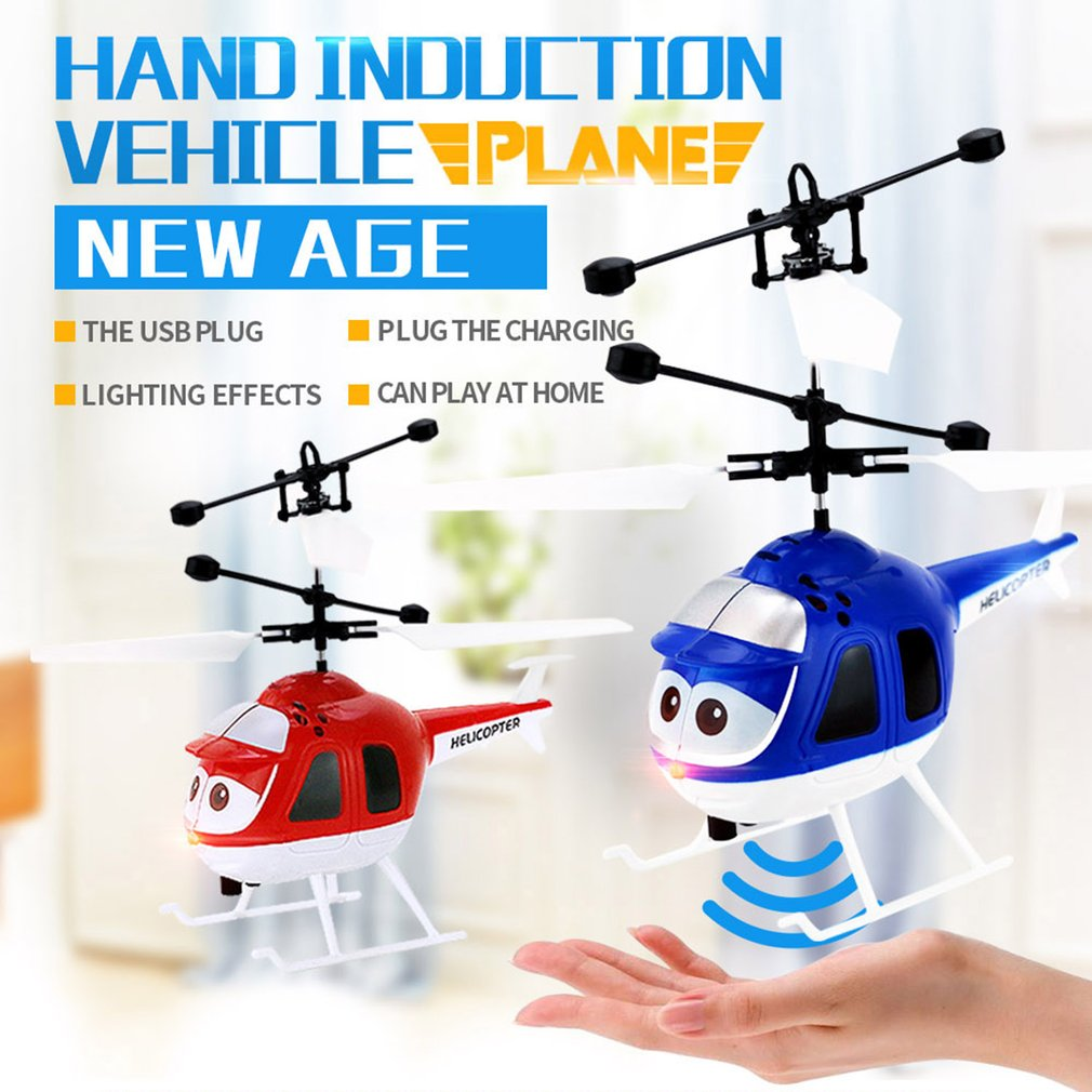 Flying RC Helicopter Aircraft dron Infrared Induction aircraft LED Light Remote Control drone dron Kids Toys Mini RC drone Gifts