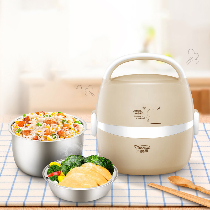 Electric Lunch Box Rice Cooker Stainless steel Cooking Appliance Thermal Hot Dish 220V