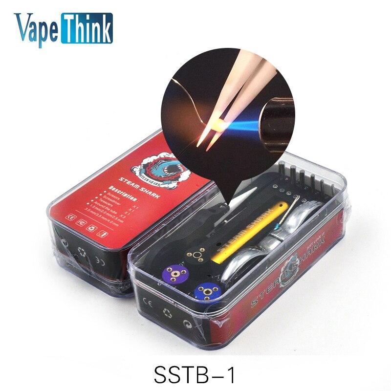 Vapethink Steam Shark SSTB-1 toolbox RDA pre coil vape tool box master vape jig kit 6 in 1 wire coiling machine koiler kit wick