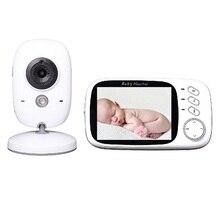 Wireless Baby Monitors 3.2 inch LCD IR Night vision Intercom Lullabies Temperature monitoring video nanny digital baby monitors