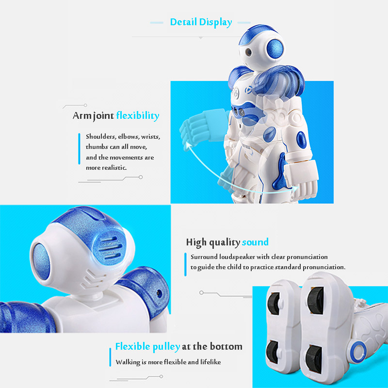 LEORY RC Robot Intelligent Programming Remote Control Robot Toy Biped Humanoid Robot For Children Kids Birthday Gift Present