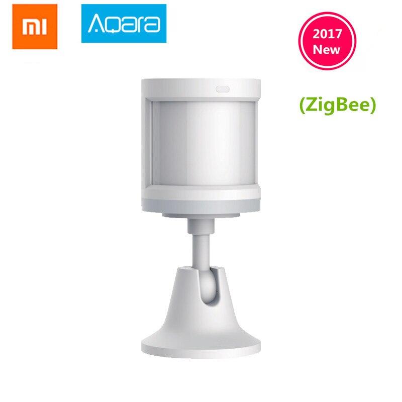 Sensor de cuerpo Xiaomi Aqara y sensores de intensidad de luz, conexión inalámbrica ZigBee wifi trabajo para xiaomi smart home mijia Mi home APP