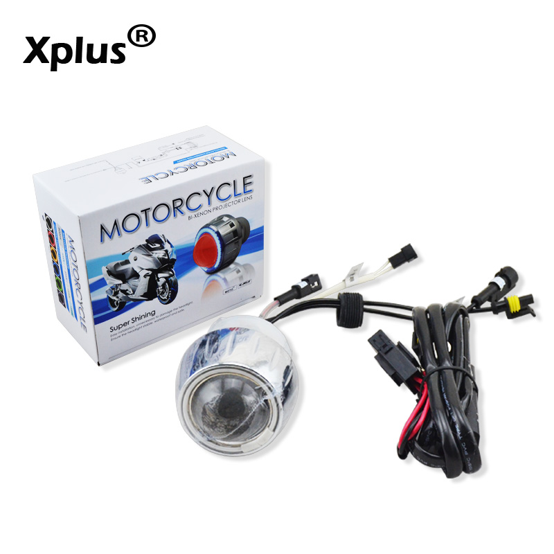 Xplus 2 pouces ange yeux diable yeux double phare universel moto Aluminium HID Bi xénon lampe poisson oeil lumière