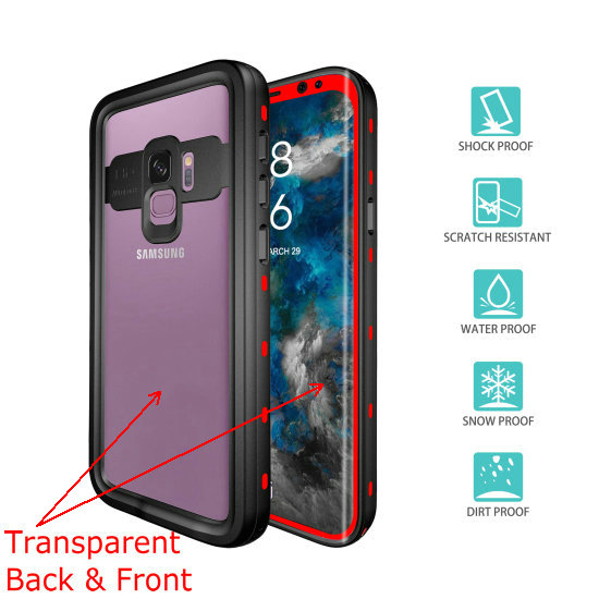 samsung s9 waterproof case (6)red__