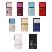 GBA SP 게임 콘솔 셸 하우징 커버 케이스 (버튼 키트 포함) 용 Gameboy Advance SP 용 교체 셸 케이스