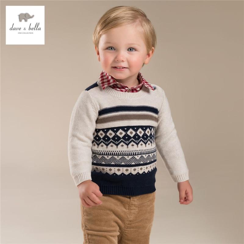 DB3950 davebella  boys jacquard sweater children pullover kids sweater