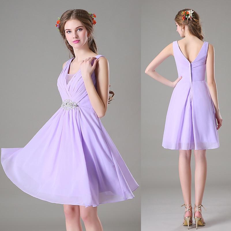 Short Lilac Bridesmaid Dresses