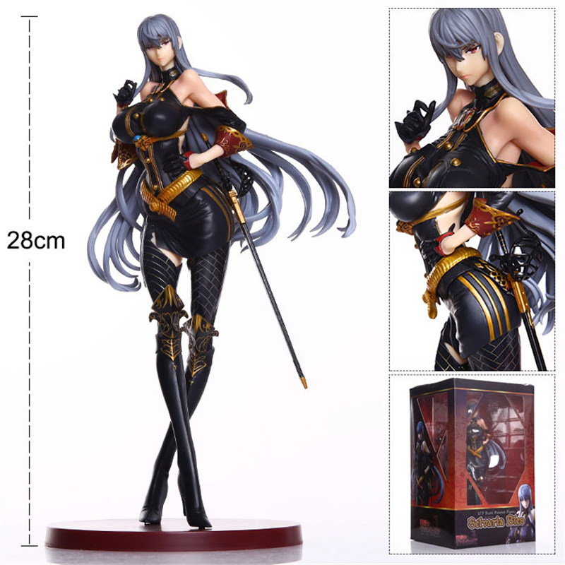 Valkyria Chronicles Selvaria Bles Vertex Ver. 1/7 Scale Pre-painted PVC Action Figure Collectible Model Toy Doll Brinquedos 28cm free shipping sexy 7 tharja sallya saarya fire emblem awakening painted 1 7 scale pvc action figure collection model doll toy