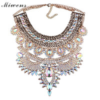 Miwens brand 2017 New fashion large crystal necklace female pop ball jewelry wholesale 2017011820