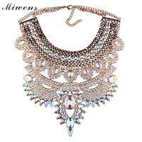 Miwens marki 2017 nowe mody duży kryształ naszyjnik kobiet pop kulki biżuteria hurtowych 2017011820