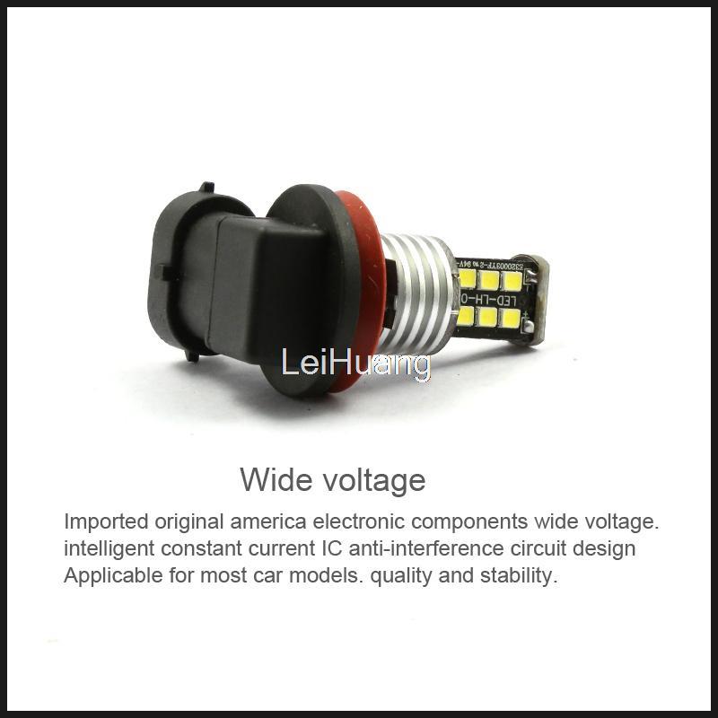 High Quality H11 15W High Power Bright 15 SMD LED Car Fog Driving Light Lamp Bulb canbus