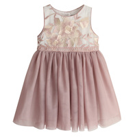 New Kids Girls Dresses Fashion Sweet Vest Princess Dresses Girl Sleeveless Embroidery Floral Dress Toddler Girl Clothing
